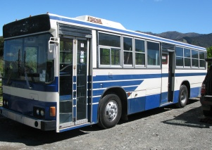 A bus with doors