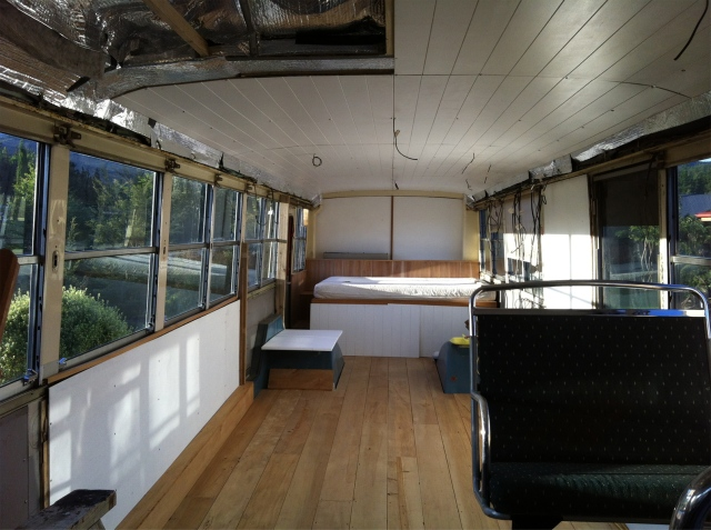 Housebus bedroom after