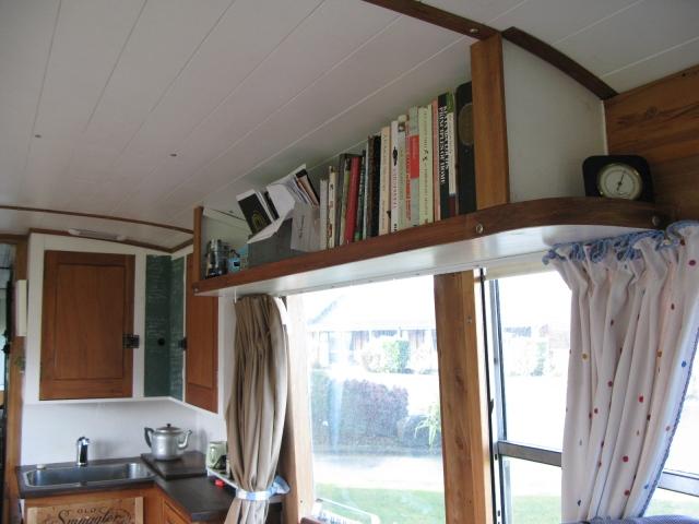 Open ceiling shelf